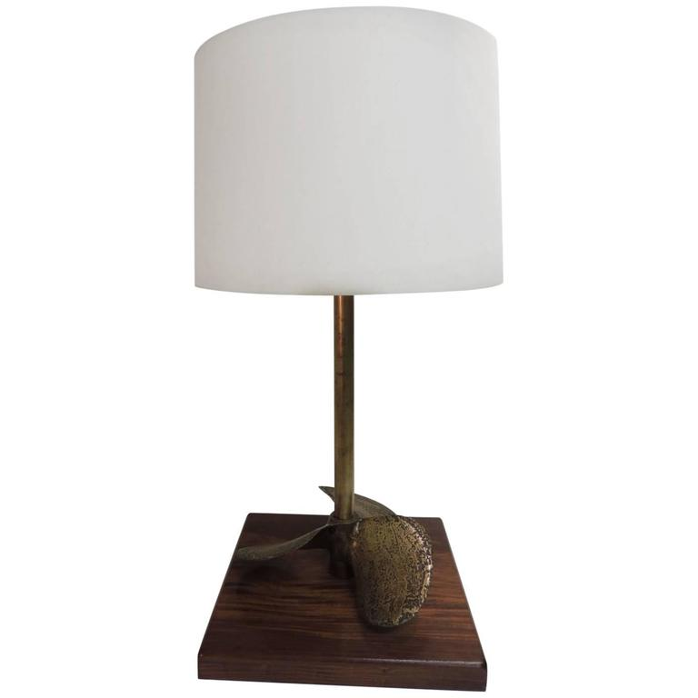 Sailboat Table Lamp : Vintage monumental brass nautical propeller table lamp for