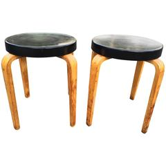 Pair of Authentic Thonet Stacking Stool Tables
