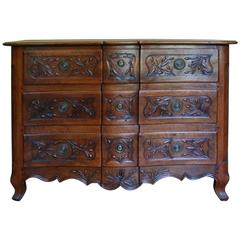 Early 19th Century Walnut French Commode