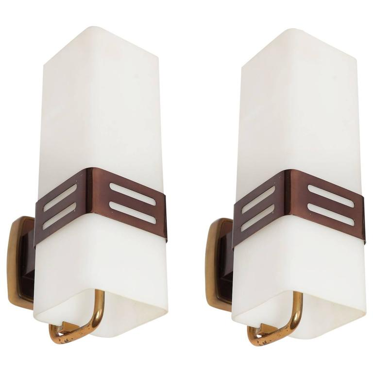 Pair of Stilnovo Wall Lights, circa 1950