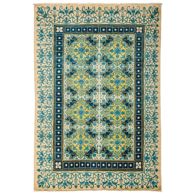 Blue Suzani Area Rug For Sale At 1stdibs