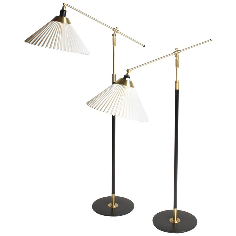 Pair of Adjustable Floor Lamps by Le Klint For Sale