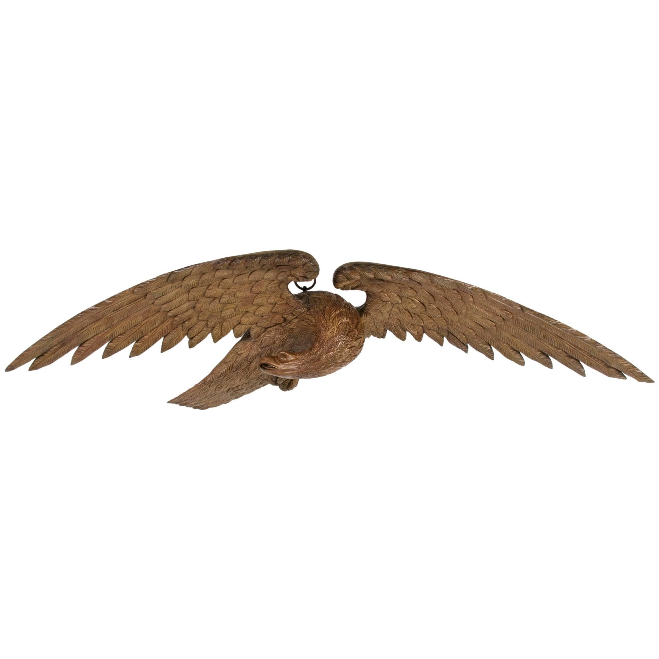 Carved American Eagle with Exceptional Form, Craftsmanship and Scale