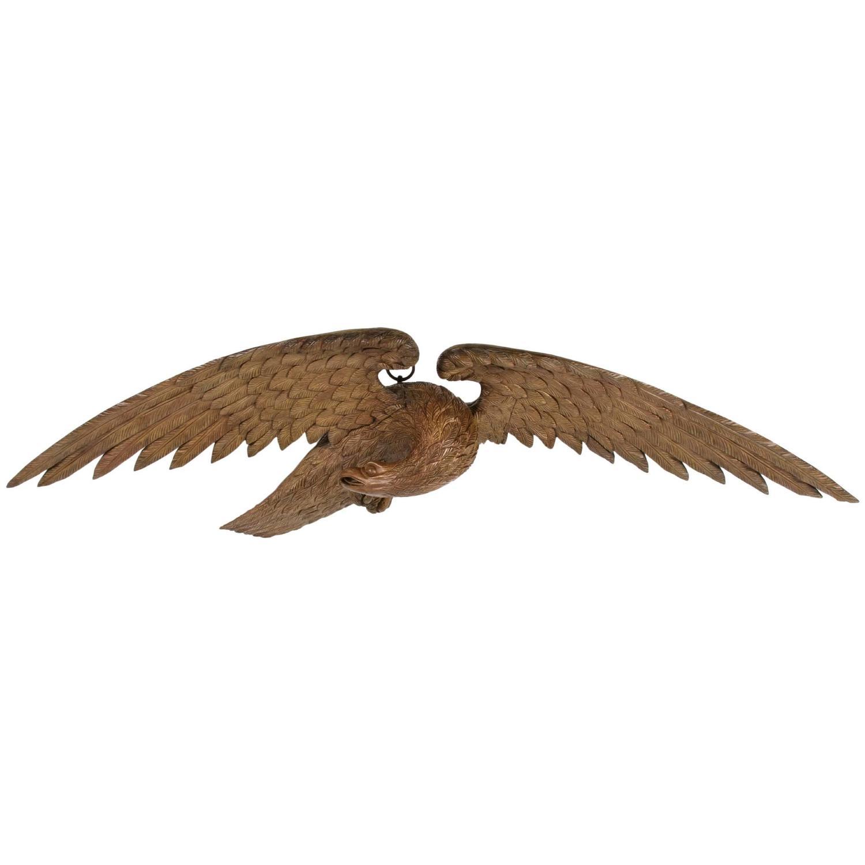 Wood Carved Eagles - 7 For Sale on 1stdibs