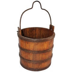 19th Century Well Bucket from Farm in Pennsylvania