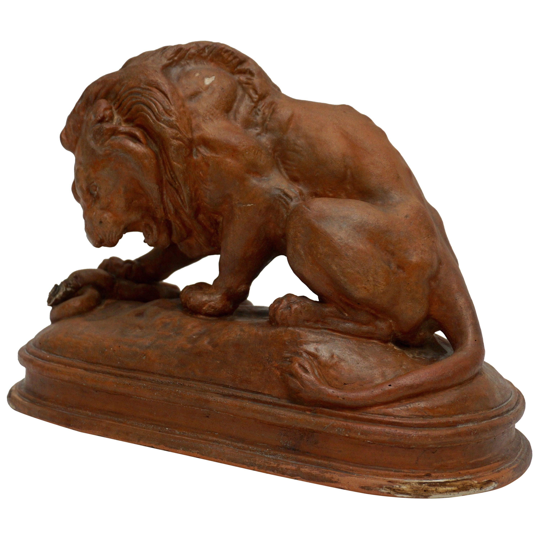 Terracotta Lion Sculpture