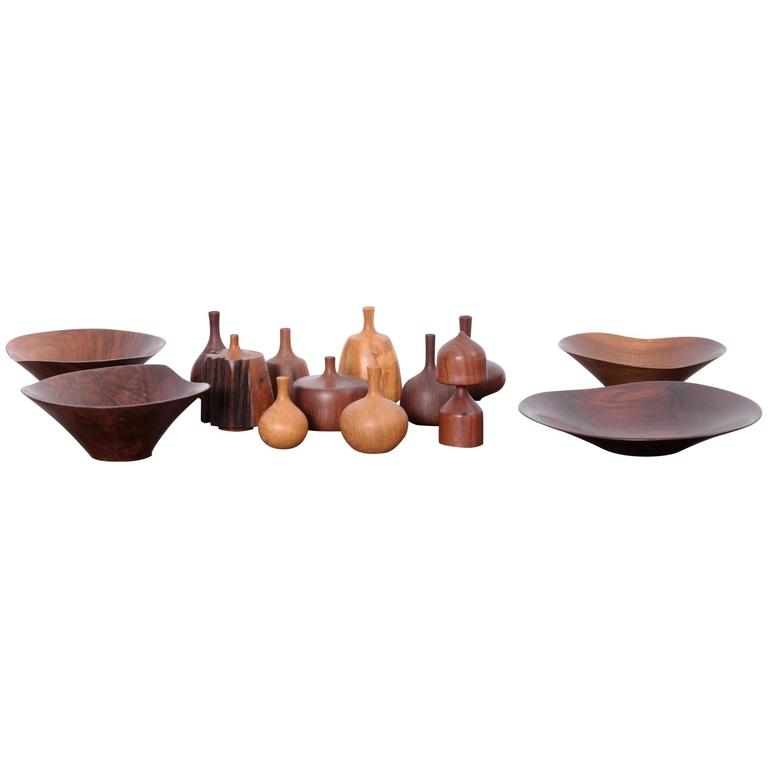 Large 14-Piece Rude Osolnik Turned Wood Collection