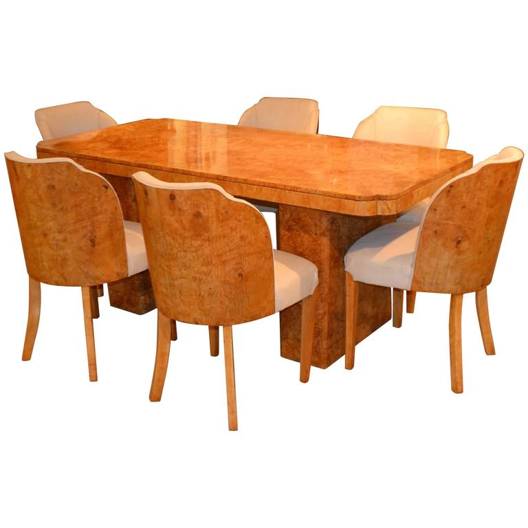 Art deco cloud dining table and chairs by epstein at 1stdibs - Epstein art deco furniture ...