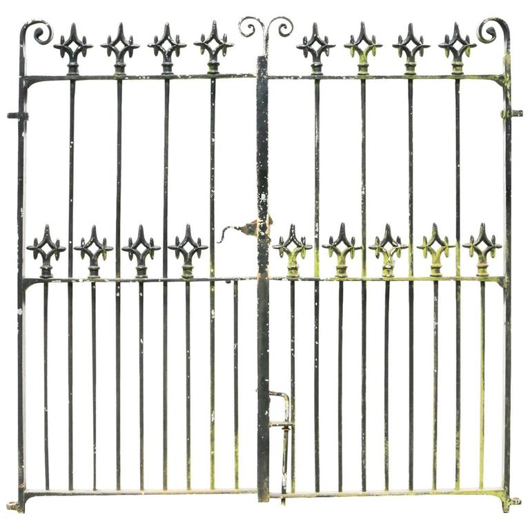 Pair of Reclaimed 19th Century Wrought Iron Gates