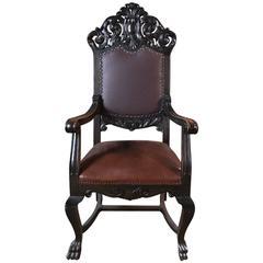 19th Century, Neo Renaissance Armchair