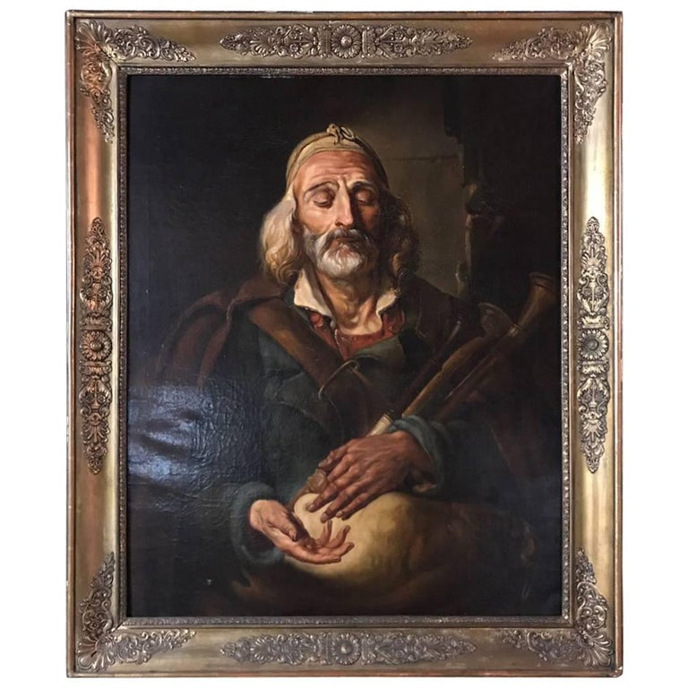 19th Century, Rare Oil Painting For Sale