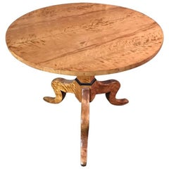Early Biedermeier Round Folding Table, circa 1820