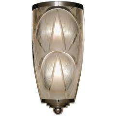 """Art Deco Style Hand-Cut Crystal Wall Sconce by Cristal Benito """"Manhattan"""""""