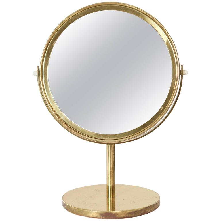 Hans Agne Jakobsson Brass Table Mirror For