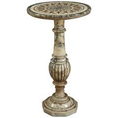 19th Century Italian Alabaster and Marble Gueridon Table