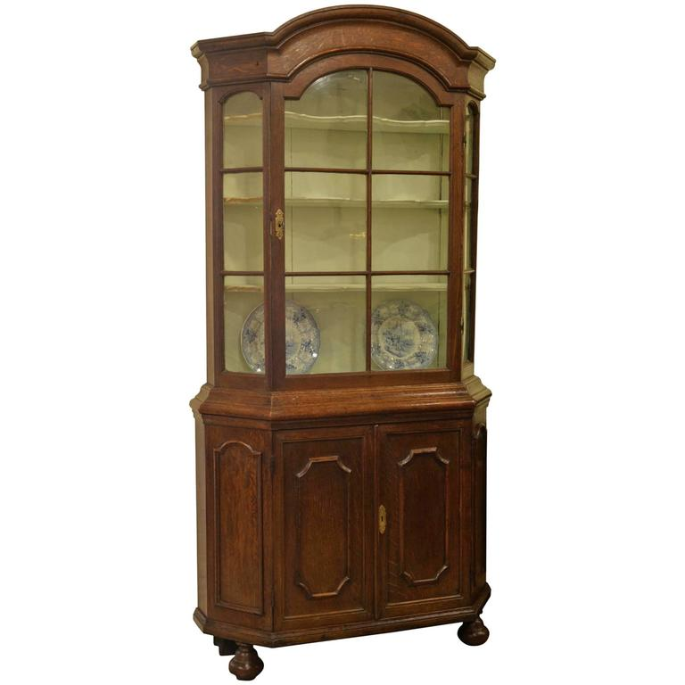 Late 18th Century Dutch Oak Display Cabinet