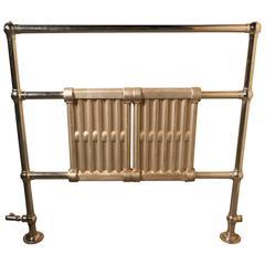 Art Deco Solid Chrome on Brass Towel Rail Radiator