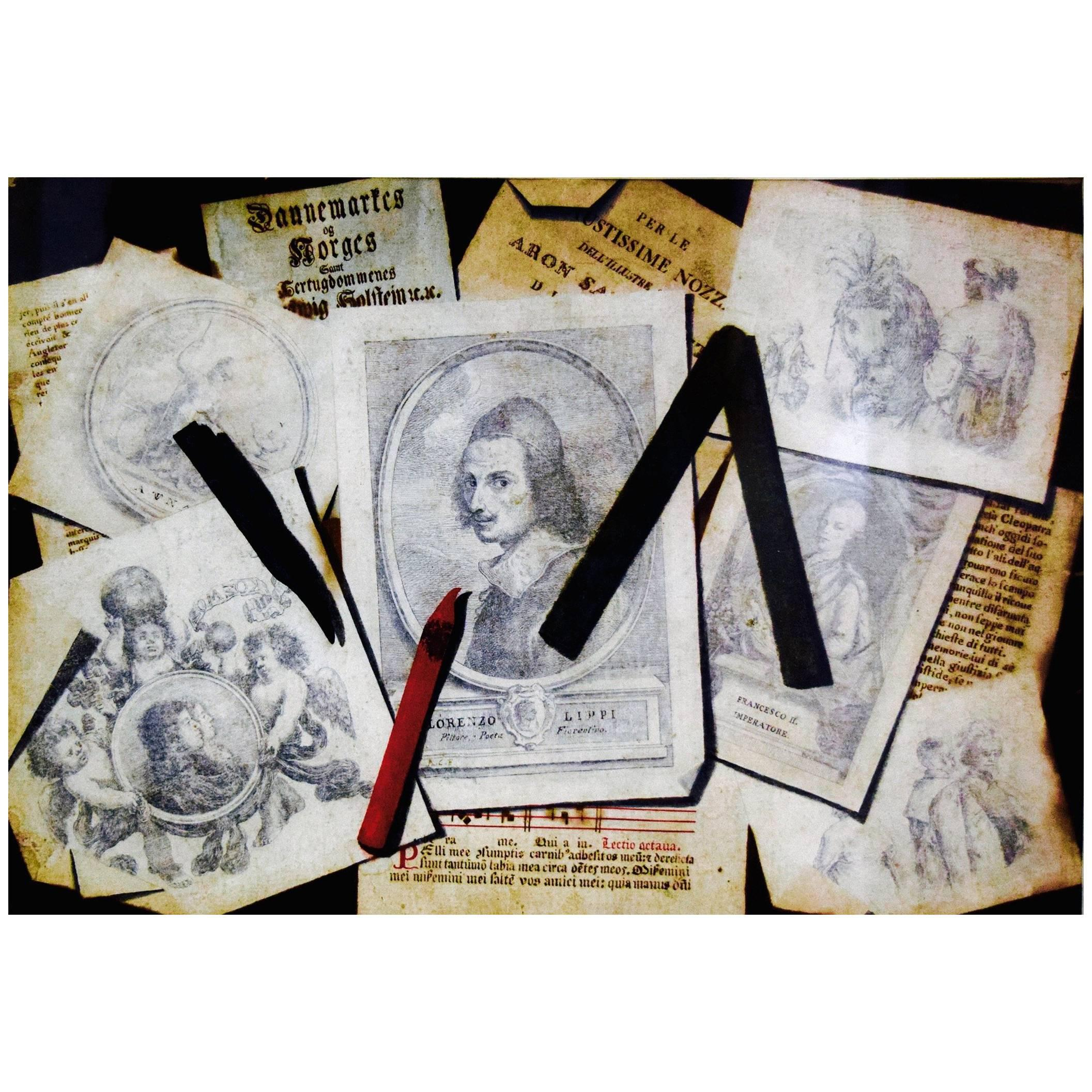 French Trompe L'oeil Drawing Circa 1800
