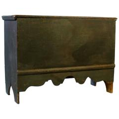 Antique 18th/Early 19th Century New England Six Board Painted Pine Blanket Chest