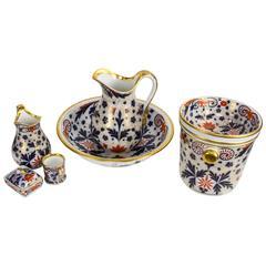 Rare Large Antique Imari Porcelain Chamber Set, England