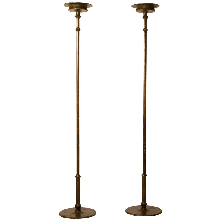 Pair of Bronze Floor Lamps by Frédéric Méchiche,  1970