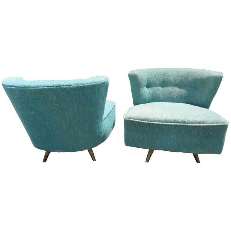Sensational Fabulous Pair Of Kroehler 1950S Swivel Lounge Chairs Mid Century Modern Home Interior And Landscaping Mentranervesignezvosmurscom