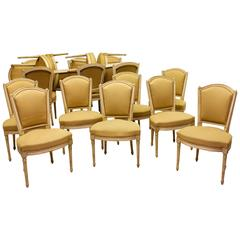 Set of Ten LXVI Dining Chairs