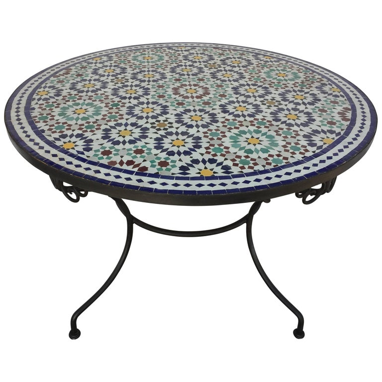 Tile Table In Fez Moorish Design