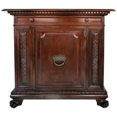 Renaissance Revival Mahogany Cabinet with Drawer, circa 1920