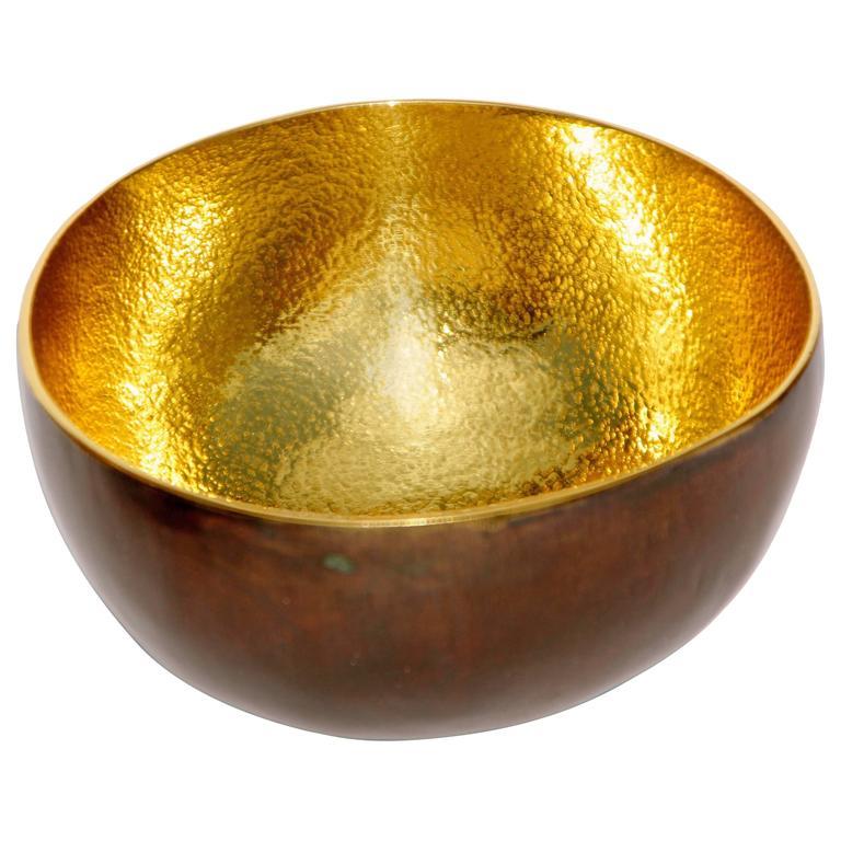 Cast Brass Small Bowl