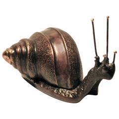 Handmade Cast Bronze Snail