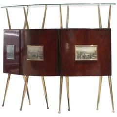 Bar Cabinet Mid-Century Italian Design Gio Ponti Attributed