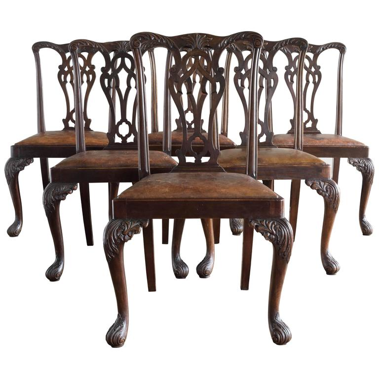 Set of Six George III Style Chairs For Sale
