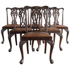Set of Six George III Style Chairs