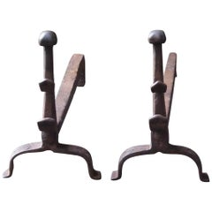 18th Century French Gothic Style Firedogs or Andirons