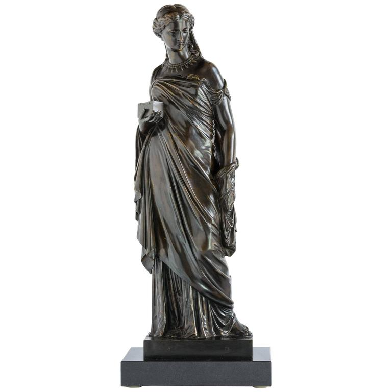 French Bronze of Pandora, Barbedienne Foundry For Sale