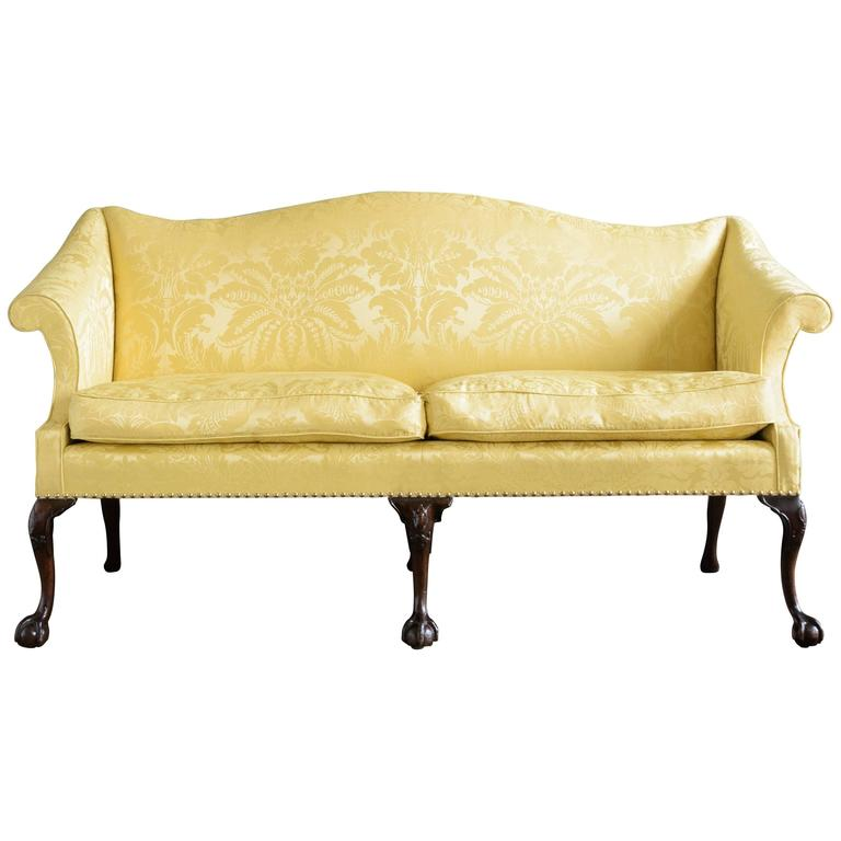 George II Style Mahogany Sofa For Sale