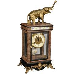 20th Century Dutch Clock with Elephant Sculpture