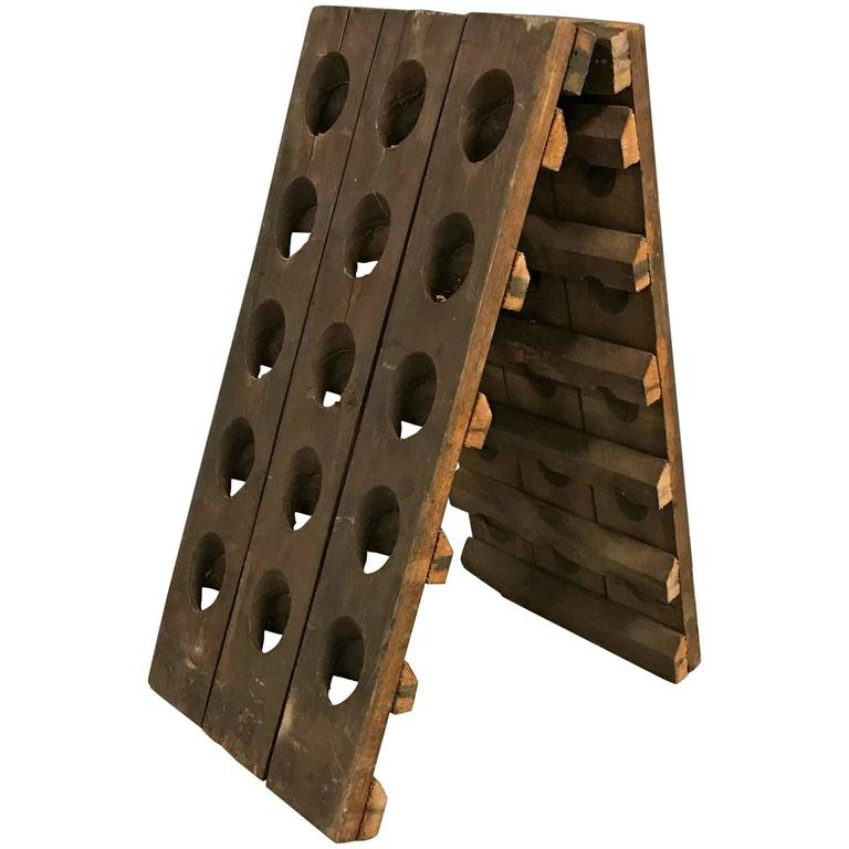 Small French Champagne Riddling Rack 1
