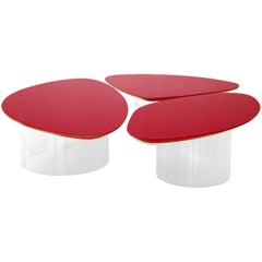 Janette Laverriere 'Nenuphar' Contemporary Red Coffee Table