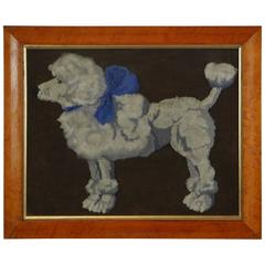 19th Century French Poodle Wool Work