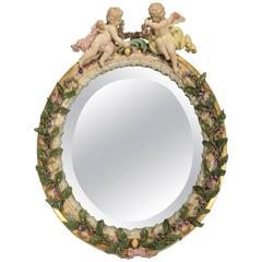 19th Century Meissen Table Mirror