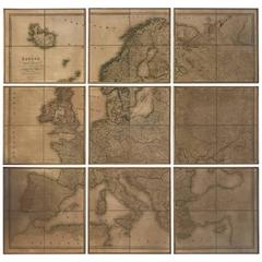 Nine-Piece Map of Europe