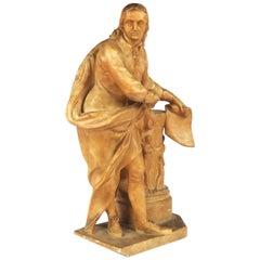 19th Century English Alabaster Sculpture of John Milton