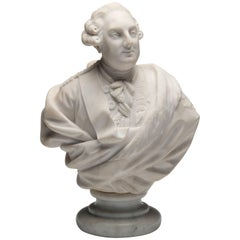 19th Century, Marble Bust of Louis XVI of France