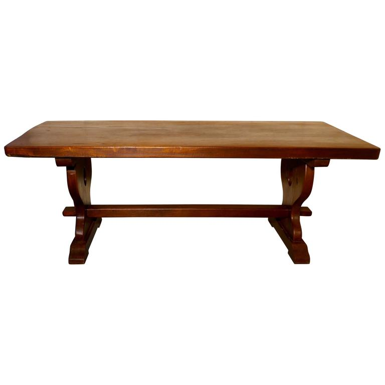 French Rustic Oak Refectory Table, Table Monastère