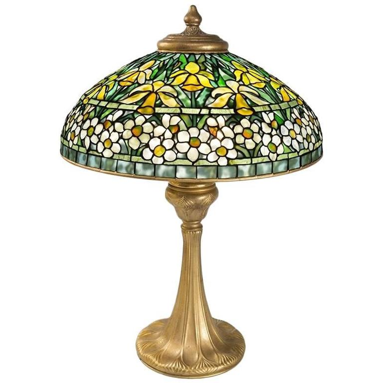 "Tiffany Studios New York ""Jonquil-Daffodil"" Table Lamp For Sale"