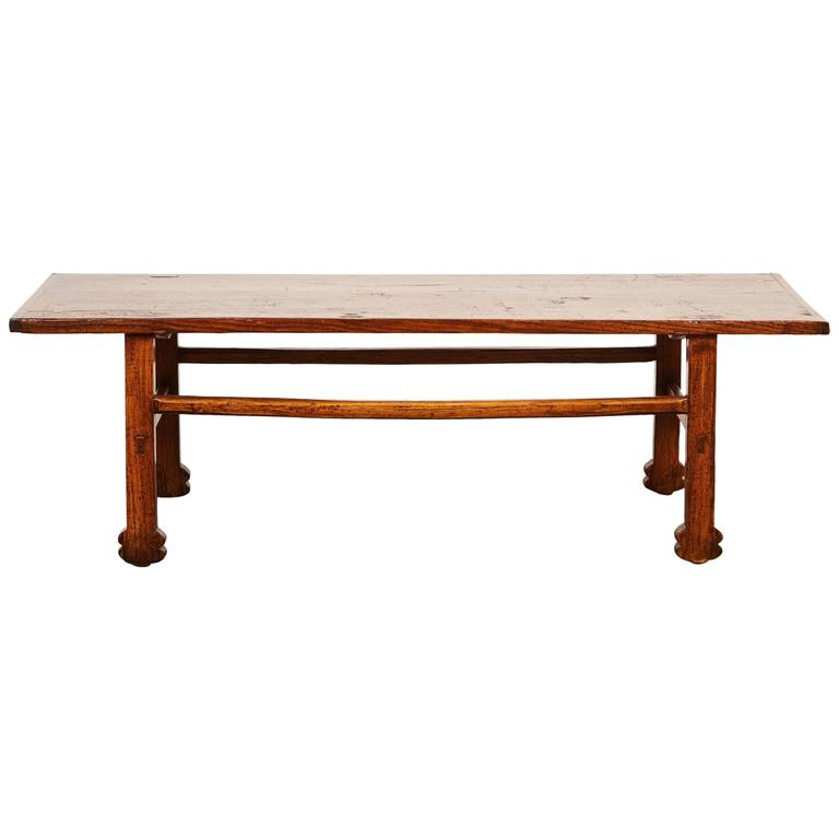 Early 19th Century Chinese Elm Table For Sale