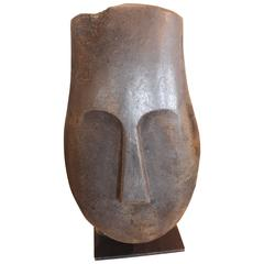 Hand-Carved Soapstone Bust, Polynesian Styled