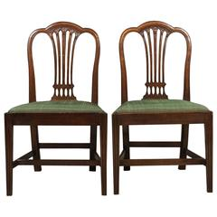 Pair of Antique Chairs, After Hepplewhite, Georgian, circa 1780